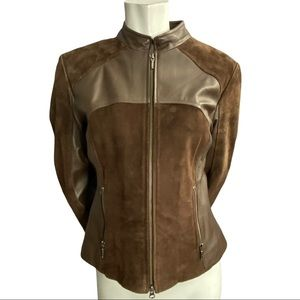 Danier Brown Leather and Suede Jacket